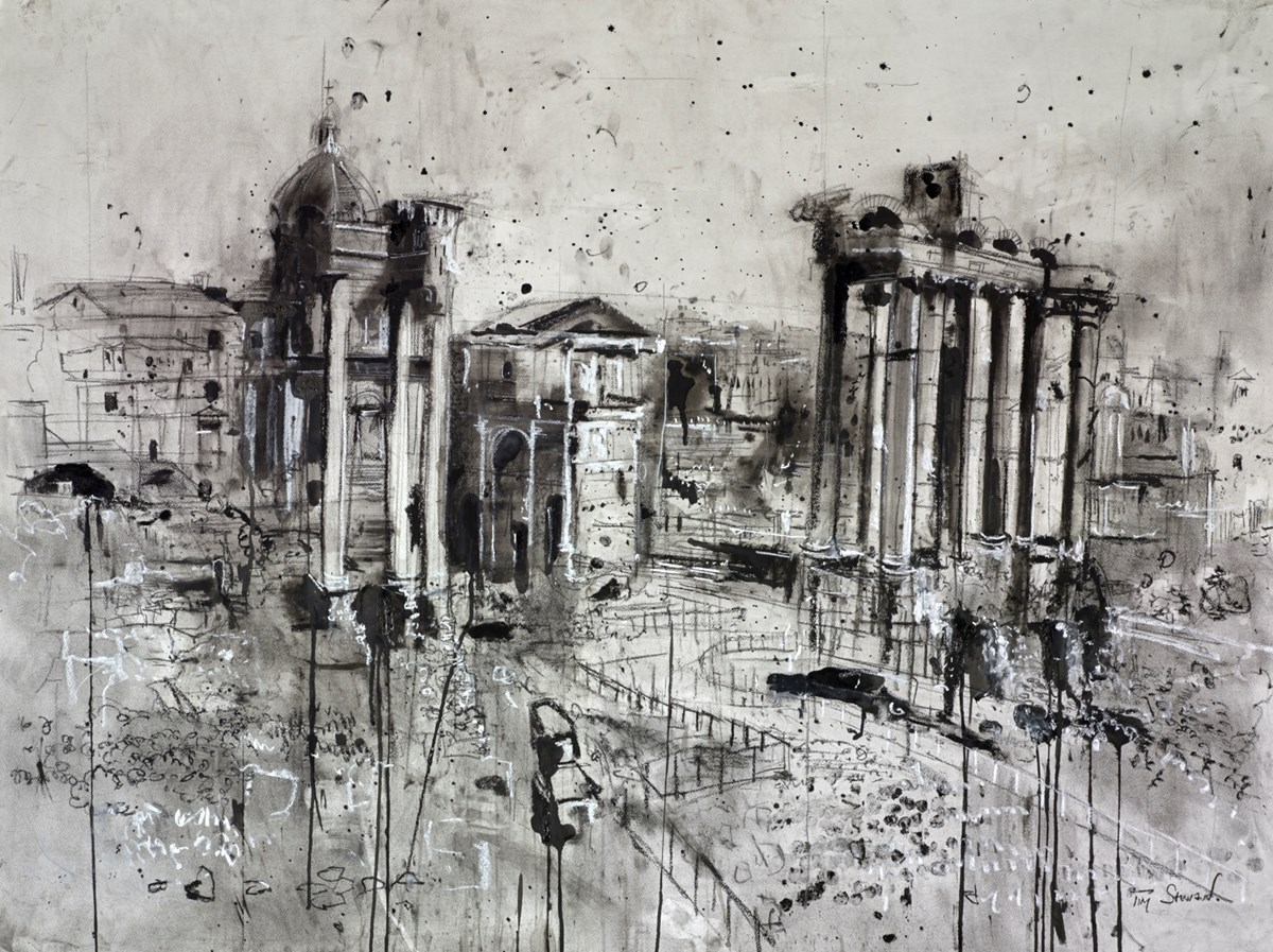 The Forum, Rome II by tim steward -  sized 48x36 inches. Available from Whitewall Galleries